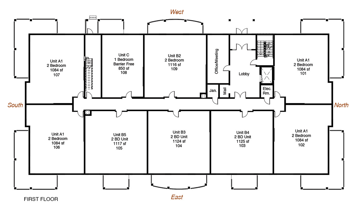 Floorplan for New Minas apartments for rent
