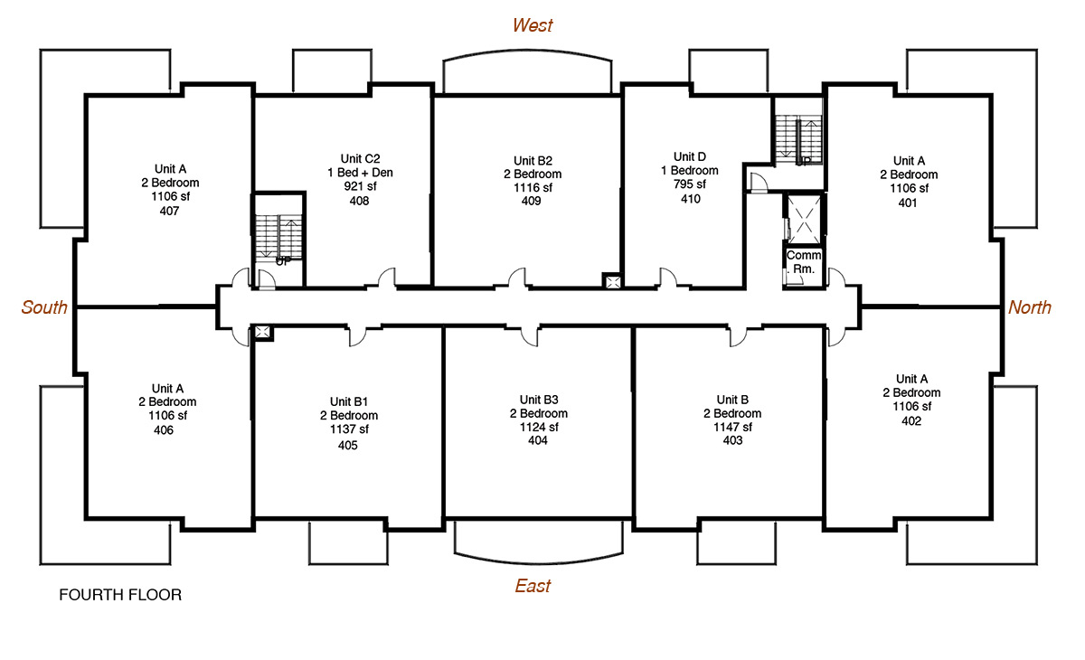 Floorplan for New Minas apartments for rent - Pinehurst Apartments